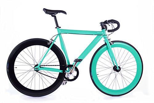 BOX39 Bici single speed/fixed, scatto fisso, nera/verde tiffany,