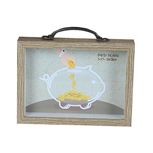 Home & Me® Madera 5* 7sombra caja/caja de dinero, 4cm de profundidad de marco de fotos