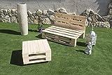 Palets Talavera SL Conjunto 1 Sofa Palet Europeo + 1 Mesa - Interior/Exterior Nuevo A ESTRENAR-Natural