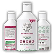 Flea Shampoo For Dogs - Sensitive Itchy Skin Dog and Puppy Grooming - Medicated Fleas Treatment (500ML)