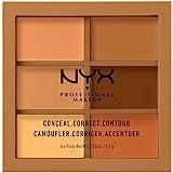 NYX PROFESSIONAL MAKEUP, Conceal, Correct, Contour Palette, 6 nyanser, Krämig konsistens, Undertoner, Nyans: Deep