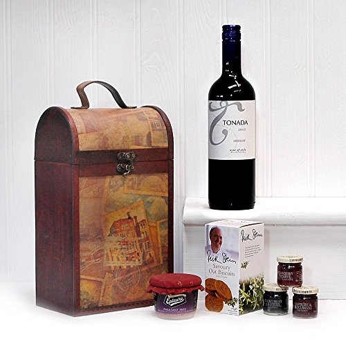 The Premium Clarendon Vintage Madera Vino Cesta Chest Ideas De Regalo 750ml Tonada Merlot Vino Tinto...