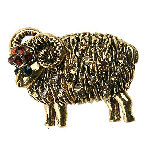 Vintage Retro Rams Brosche Pins Legierungsschafe Broschen Clips Schal Zubehör 004 Ram