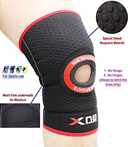 Xn8 Neoprene Adjustable Knee Gel Support Brace Medical Strap MMA Pad Guard Protector (Extra Large)