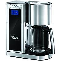 Russell Hobbs Elegance Digitale Glas-Kaffeemaschine 23370-56 / Filterkaffeemaschine mit digitalem Timer und Schnellheizsystem / 1600 Watt