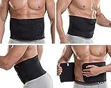 Damen und Herren Rückenbandage Bauchweggürtel Schwitzgürtel Schlankgürtel R-139 (XL-90-130 cm)