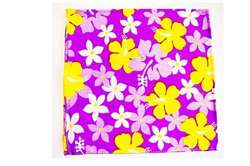 Bandana très glamour imprimée fleurie Fond violet