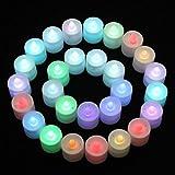 Candela elettronica a lume di candela Mini colorato romantico a LED elettronico per decorare la festa, Proporre un matrimonio a una fidanzata confessione romantica decorazione (colore, 38 x 37 mm(D x H))