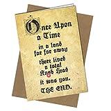 #242 Geburtstagskarte für Erwachsene Once Upon a Time Humor Lustig Rude Close to the Bone Cheeky (A4 gefaltet auf A5) Top Qualität Grußkarte Close to the Bone
