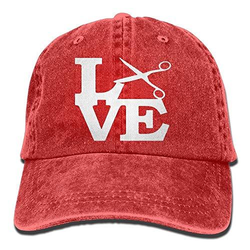 Unisex Baseball Cap Garn gefärbt Denim Hut Schere Liebe Friseur Friseur Haar verstellbare Snapback Solid Hat DIY 5843 -