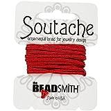 Beadsmith soutache Rayón Cordón 3mm de ancho–Flor 3YD