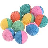 Lamdoo Pet Chew Toy Colorful Cat Ball Toy Juguete de pelotas de látex para gatos 10 piezas