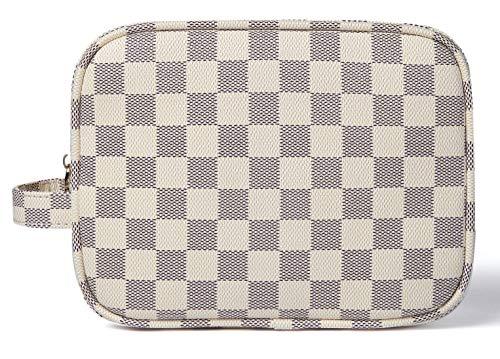 Daisy Rose X Katy Roach cuadros de lujo componen el bolso | Cosmético de la PU del cuero vegano bolsa de viaje de Tocador Pequeña Crema