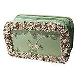 Damen Schultertasche Perle Umhängetasche Ethnischer Schultertasche Diagonal Cross-Tasche Einfarbig Quadratische Tasche Blume Umhängetasche Sommer Mini Handtaschen Mode Schulter Wickeltasche Tasche