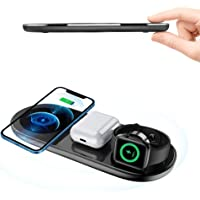 Wireless Charger, TODAYI 5 in 1 Qi Induktive ladestation 15W Fast Kabelloses Ladegerät Handy Wireless Charging Ladepad…