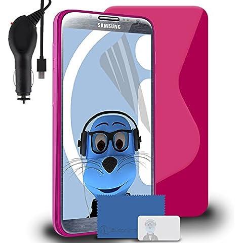 iTALKonline Samsung SCH-I605 Galaxy Note 2 Rosa TPU S line
