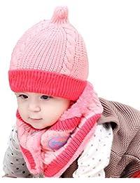 Falliback Berretto di Lana per Bambini E Sciarpa di Velluto Caldo Sciarpa di  Peluche Cappello Invernale Berretto di… 6b210e81f8b4