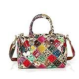 Générique Sac À Main pour Femme en Cuir Multicolore Assorti Diagonal Sac Femme Big Bag...