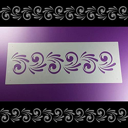 Schablone Bordüre Swirly Ornament Spirale B2B32
