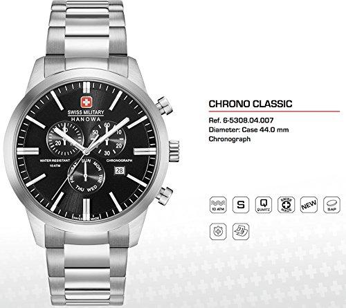 SWISS MILITARY-HANOWA Herren Analog Quarz Uhr mit Edelstahl Armband 06-5308.04.007
