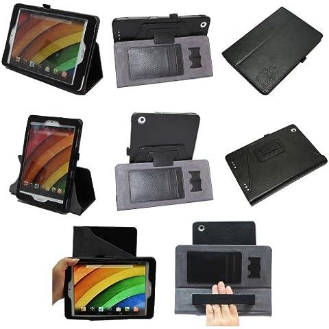 Coodio® Smart Acer Iconia A1-830 Tablet funda de cuero rotatoria 360 con soporte integrado apretón de la mano -