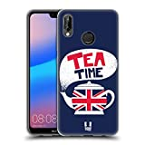 Head Case Designs Tea Time Londoner Drucke Soft Gel Hülle für Huawei P20 Lite