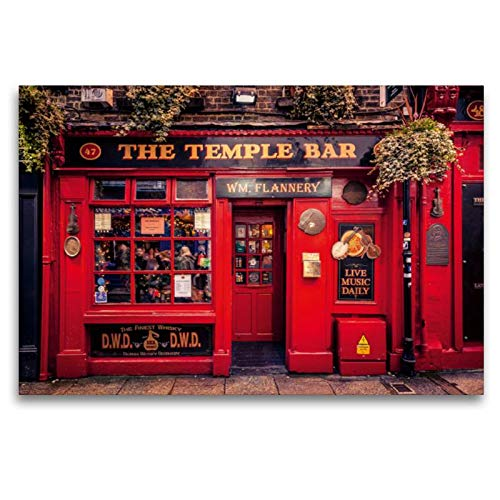 Premium Textil-Leinwand 120 x 80 cm Quer-Format Dublin | Wandbild, HD-Bild auf Keilrahmen, Fertigbild auf hochwertigem Vlies, Leinwanddruck von Markus Pavlowsky -