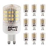 SEBSON 10er Pack G9 LED 3W Lampe – vgl. 25W Glühlampe – 240 Lumen – G9 LED warmweiß – LED Leuchtmittel 160°