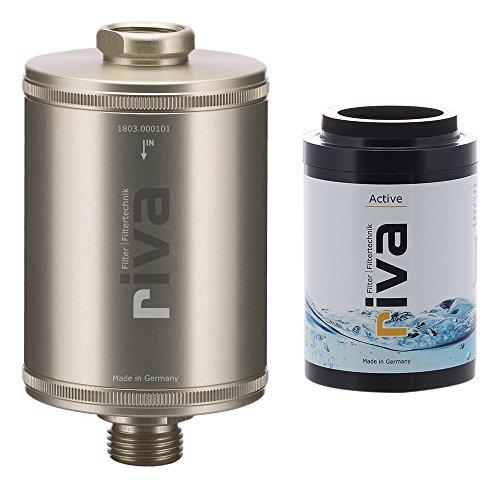 riva Filter | Trinkwasserrfilter-Set Active (Champagner) | Gesund Trinken mit Aktivkohlefilter. Reduziert Schadstoffe - schont Nährstoffe. Wasserhahn-Filter für Küche + Spülenunterbau, Bad