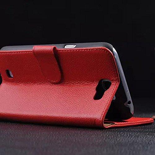 Note3 Echt Ledertasche,EVERGREENBUYING - Litchi Stil Handyhülle Für N9006 Aufklappbare Echtes Leder Bookstyle Schutzhülle im Flip Etui Cover Style Für Samsung GALAXY Note 3 / NOTE III Schwarz Schwarz