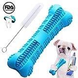 EPODA Hundezahnbürstenstift Verbessertes Kauspielzeug Knochen Bissfest Zahnpflege Effektive Zahnreinigung Blau für kleine und mittelgroße Hunde