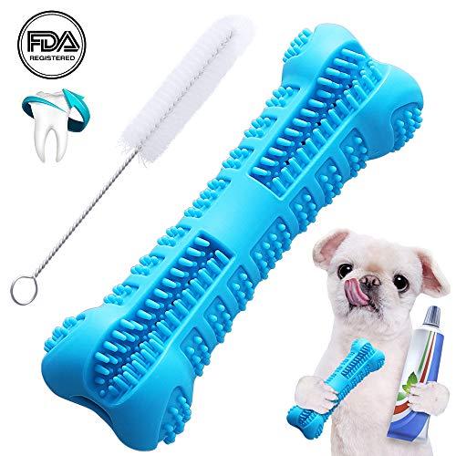 EPODA Hundezahnbürstenstift Verbessertes Kauspielzeug Knochen Bissfest Zahnpflege Effektive Zahnreinigung Blau für kleine und mittelgroße Hunde - Knochen Für Hunde Mittelgroße Hund