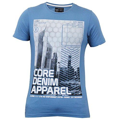 Herren Kurzärmelig Bedruckt T-shirts By Dissident Blau - 1C7630