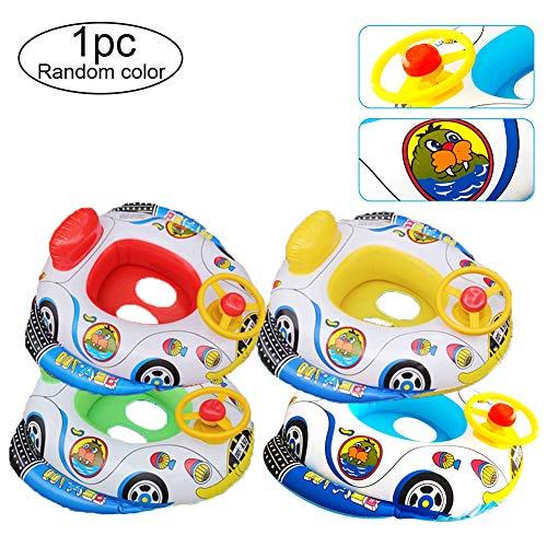 Switty 1 STÜCK Pool Aufblasbare Spielzeug Neue Baby Boot Schwimmring Baby Pool Float Schwimmhilfe Werkzeug Nette Auto Design Sicher PVC Schwimmhilfe Für Kinder Kinder 2-5 Jahre alt (zufällig)