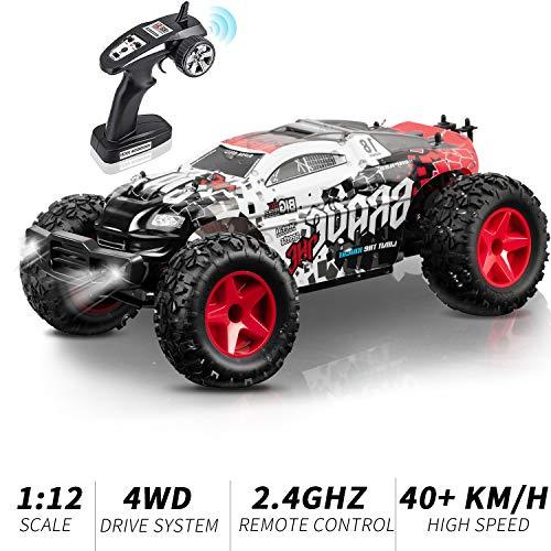 KOOWHEEL Rc Auto, Auto Radiocomandata Monster Truck 2.4Ghz Rc Car 1/12 4WD Alta Velocita Monster Truck Telecomando Altissima velocità 40 km/h (Large(1:12))
