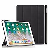 EasyAcc iPad Pro 10,5 Etui Housse, Ultra Slim Etui et Fonction de Support et Sommeil/Reveil Automatique (iPad Pro 10,5 2017, Noir, PU Cuir)