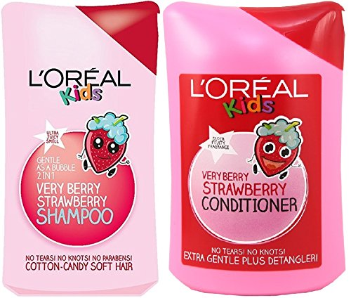 loreal-paris-kids-extra-gentle-2-in-1-very-berry-strawberry-shampoo-conditioner-set-250ml