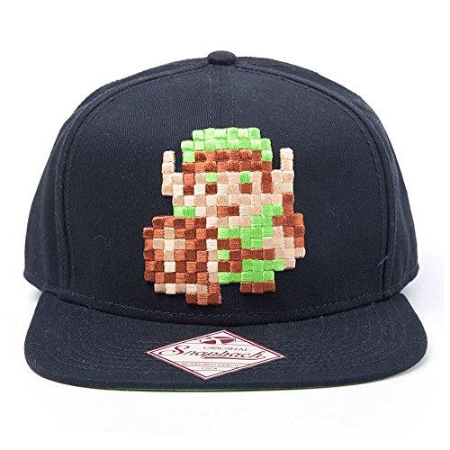 Preisvergleich Produktbild Nintendo Unisex Link 8Bit Zelda Snapback Baseball Cap, Schwarz, One size (Hersteller Größe: One Größe)