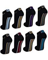 4 bis 20 Paar Damen Sneaker Socken Schwarz Baumwolle Damensocken Sport - 36704 - Sockenkauf24