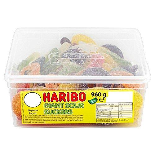 Haribo - Giant Sour Suckers - Bonbons acidulés en forme de tétine géante - 960 g - environ 60 bonbons