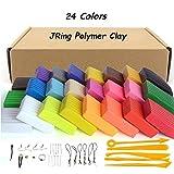 JRing Polymer Ton Clay, 24 Farben Ofen Backen DIY Modellierung Clay Safe und Ungiftig mit 5pcs Modellierung Tools, Tutorials und Zubehör, Bestes Geschenk für Kinder