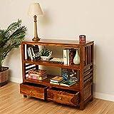 MV Furniture Wooden Console Table | Finish Type :- Provincial Teak Finish | Wood Type :- Sheesham Wood for Living Room | Kitchen Rack | Book Shelves
