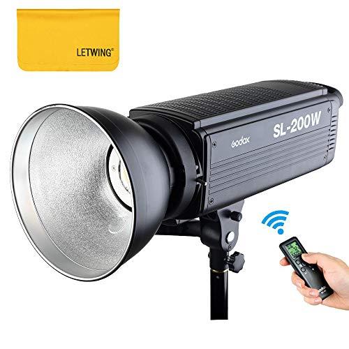 Godox SL-200W 200Ws 5600K LED Videolicht Studio Dauerlicht für Kamera DV Camcorder (SL-200W) -