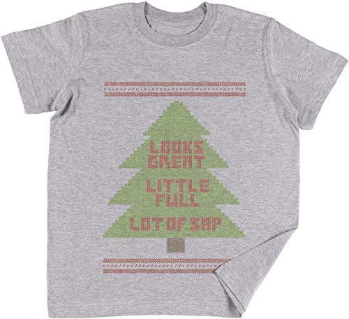 Weihnachten Urlaub Hässlich Sweatshirt Kinder Jungen Mädchen Unisex T-Shirt Grau