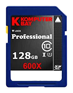 Komputerbay 128GB SDXC Secure Digital Extended Capacity Speed ​​Class 10 UHS-I 600X Ultra-Hochgeschwindigkeits-Flash Memory Card 60MB / s schreiben 90MB/s 128 GB Lesen