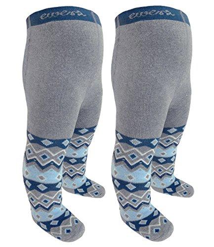 Ewers 2 pacco calzamaglia del bambino ragazzi collant pacchetto saver calzamaglie di marca termo per neonato (ew-905030-w17-bj0-3400-3400-56) incl. everykid-fashionguide