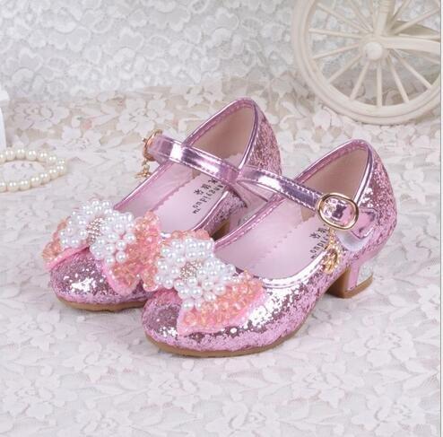 Ohmais Enfants Filles Chaussure cérémonie Ballerines à bride Fête Demoiselle d'honneur Mariage Escarpin à petit talon Violet