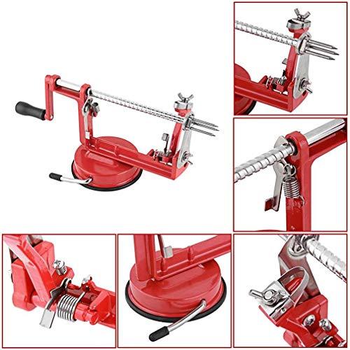 NBDPF Apfelschälmaschine Apfelschäler Apfelmesser 3 in 1 Apple Slinky Machine Peeler Corer Obstschneider Slicer Kitchen Tool (Apple Slicer Peeler)