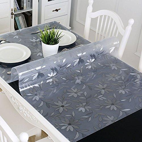 Tao Tischdecke Couchtisch Matten Soft Glas PVC Tischdecken Wasserdicht Ölbeständig Tischabdeckung 3mm Dicke (größe : 31.5*55.1inch)
