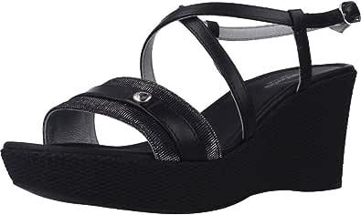 Sandalo da Donna NeroGiardini in Pelle Black o Rame E012380D. Scarpa dal Design Raffinato. Collezione Primavera Estate 2020